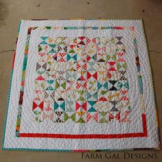 Farm Gal Designs: Momo Baby Quilt