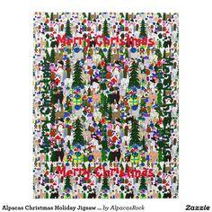 Alpacas Christmas Holiday Jigsaw Puzzle
