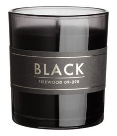 Scented Candle in Glass Holder   Black/Firewood   H&M HOME   H&M US