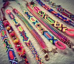 Woven Chain bracelet/Friendship Bracelet/Ombre by IslandChula, $10.50