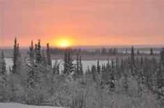 The welcoming return of the sun in Inuvik, North West Territories. After a month of dusk-like brightness, the town celebrates with annual festivities.