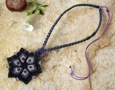 Makramé necklace http://www.meska.hu/Shop/index/17554