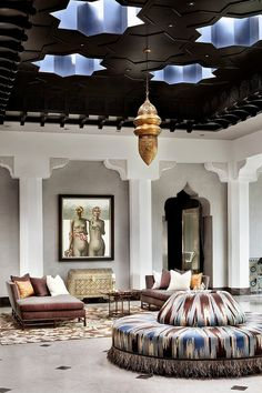 Casbah Cove is a luxury designed Moroccan riad by Gordon Stein Design, nestled in Palm Desert, California's most upscale gated community, Bighorn Golf Club. Home Interior Design, House Design, Decor, Interior Design, House Interior, Luxury Interior Design, Moroccan Design, Interior, Home Decor