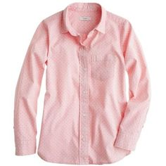 J.Crew Shrunken shirt in dot oxford