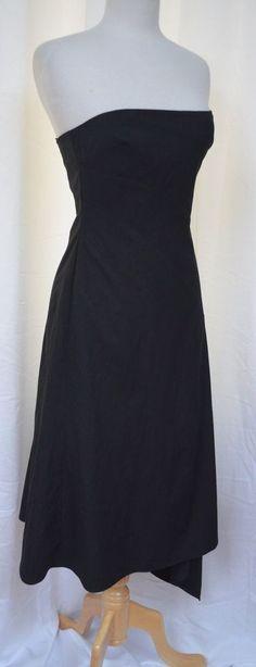 BCBG Maxazria Size 6 Black Strapless Stretch Dress Asymmetrical Hemline New #BCBGMAXAZRIA #Strapless #Cocktail #career #fashion #style #unique