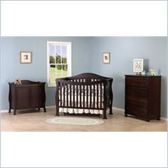 davinci parker 3pc convertible crib nursery set w toddler rail in coffee