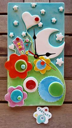 Timestamps DIY night light DIY colorful garland Cool epoxy resin projects Creative and easy crafts Plastic straw reusing ------. Ceramics Projects, Polymer Clay Projects, Diy Clay, Clay Crafts, Diy And Crafts, Ceramic Decor, Ceramic Clay, Ceramic Painting, Paper Clay