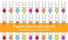 Conejitos de Pascua/ Easter Bunny  http://manualidades.euroresidentes.com/2013/03/papel-decorado-con-conejitos-de-pascua.html