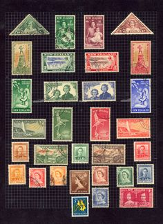 A page from Freddie Mercury's childhood stamp album.