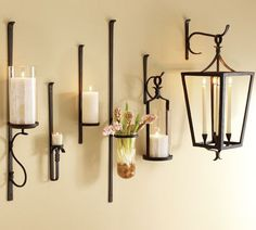 artisanal wall mount candle holders.  Fill with candles, greenery, flowers or a flat surface with a knick knack