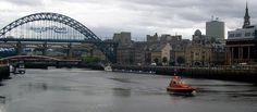 River Tyne, and Pilot Cutter Collingwood, Newcasle-upon-Tyne.
