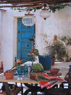 Spanish Patio Dining.