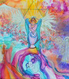Feminine Angels, 'Holding Space for Gaia's Healed Womb Chakras' by Sheranda Ann Kumara