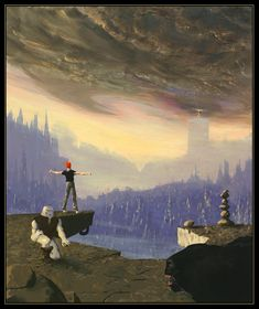 """Cover artwork for """"out of this world."""" Did not rea;ize this was an actual painting. Classic game"""