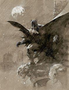 """Batman over San Prospero"" - Jim Lee"