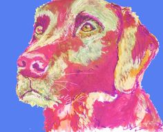 Labrador wall art, Lab Painting,Lab art print, Lab mom gift, Labrador port…… visit oscarjetson.com to see cool dog art oscarjetson.com