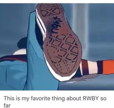 Jaune has to label his shoes!