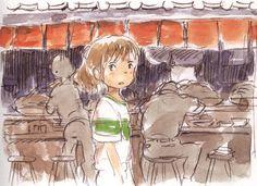 Boceto original de 'El viaje de Chihiro' (Hayao Miyazaki, 2001) pic.twitter.com/KBhn5kkapb