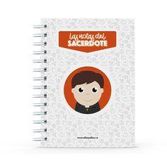 Cuaderno - Las notas del sacerdote, encuentra este producto en nuestra tienda online y personalízalo con un nombre. Projects To Try, Notebook, Books, Easy, Teacher Notes, Teacher Notebook, Notebooks, Store, Priest