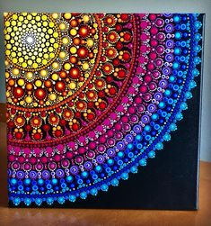 inally finished this offset sunburst mandala on stretched canvas Mandala Artwork, Mandala Canvas, Mandala Painting, Mandala Design, Mandala Pattern, Dot Painting Tools, Dot Art Painting, Mini Canvas Art, Mandala Rocks