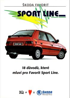 1993 Skoda Favorit Sport Line by Alden Jewell on Flickr Vw Group, Volkswagen Group, American Motors, Trucks And Girls, European Style, Maserati, Buick, Fiat, Volvo