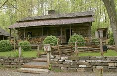 The Village - The Museum Of Appalachia Cabins And Cottages, Log Cabins, Beautiful Homes, Beautiful Places, Smoky Mtns, Primitive Homes, My Dream Home, Dream Homes, Appalachian Mountains