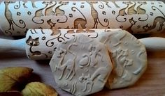 Rolling Pin Glamorous Cats Pattern Embossing Laser by SugaryHome