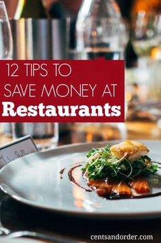 Great ideas on how to save money at your favorite restaurants! Be sure to check out these tips before you go out to eat. Dining out doesn't have to ruin your budget.