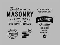 Masonry Brand Exploration typography branding old vintage logo lockup Typography Logo, Logo Branding, Typography Design, Branding Design, Portfolio Book, Portfolio Design, Portfolio Layout, Retro Logos, Vintage Logos