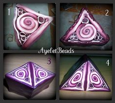 Polymer Clay Kaleidoscope cane part 1 tutorial by AyeletBeads, via Flickr.