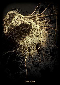 City Light Maps Maps poster prints by Retina Creative Map Wall Art, Map Art, Eden Design, Viking Runes, Fantasy Map, Poster Making, New Artists, City Lights, Cool Artwork