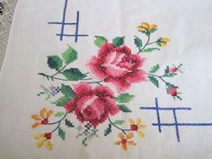 embroidered crochet tablecloth - Google'da Ara