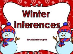 FREEBIE 8 winter inference cards