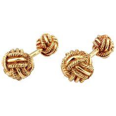 Tiffany & Co. Schlumberger Gold Knot Cufflinks 1