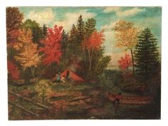 A view of Canada in Autumn. Offered by Robert McKoy Fine Arts.