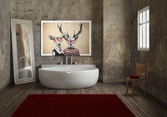 Obraz na płótnie + LOVE + 100x70 cm w LUdesign-gallery na DaWanda.com