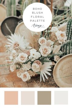 Blush Wedding Colors, Taupe Wedding, Wedding Color Pallet, Rustic Wedding Colors, Spring Wedding Colors, Spring Wedding Flowers, Boho Wedding Decorations, Wedding Color Schemes, Floral Wedding