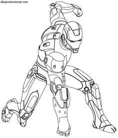 Dibujos Sin Colorear: Dibujos De Ironman Para Colorear 6