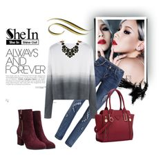 """""""Shein contest"""" by fashion-572 ❤ liked on Polyvore featuring women's clothing, women, female, woman, misses and juniors"""