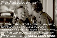 :) You don't have to agree, you just have to love each other