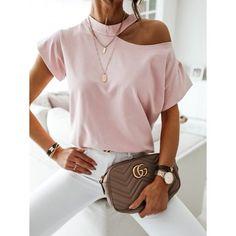 Cut Shirts, Shirts & Tops, Urban Chic, Off Shoulder T Shirt, Shoulder Cut, Cold Shoulder, Shoulder Sleeve, Home T Shirts, Skirt Suit