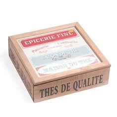 Caja para el té Al. 8 cm EPICERIE FINE