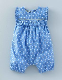 Corn Flower Daisy Dot Pretty Playsuit Boden 6-12m