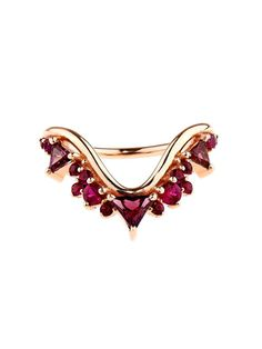 Fernando Jorge Ruby, rhodolite & rose-gold ring