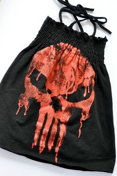 The Punisher Skull Upcycled Sun Dress