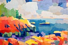 Cliffs near Lobster Cove, Monhegan Island, Henry Isaacs