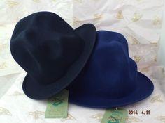 ヴィヴィアンウエストウッド フェルトマウンテンハット 濃紺と青(新色、ロイヤルブルー)