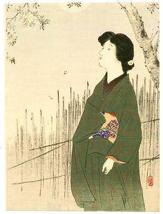 .:. Takeuchi Keishu -  Misty Moon, 1900 - 1910s.
