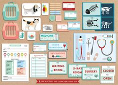 Pretend play bumper Printable Vets, animal doctor veterinary clinic Activity role play set for class, school or home school. by inkandocean on Etsy https://www.etsy.com/listing/236745477/pretend-play-bumper-printable-vets