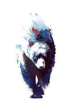 Animal Drawings, Art Drawings, Bear Watercolor, Bear Paintings, Bear Drawing, Canvas Art, Canvas Prints, Bear Art, Wildlife Art